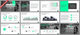 Business-Präsentation Folien Vorlagen aus Infografik-Elementen