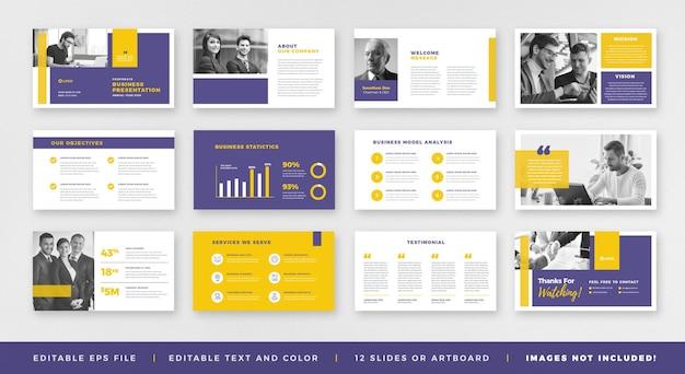 Business presentation brochure guide design oder pitch deck slide template oder sales guide slider