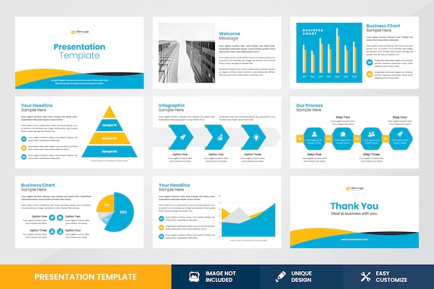 Business presentation design infografik element vorlage