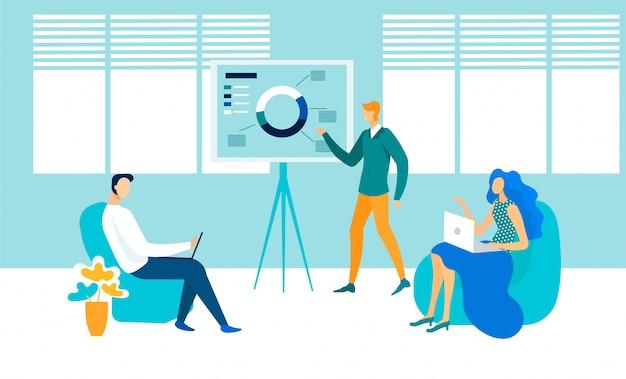 Business presentation flat