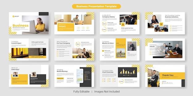 Business presentation folienvorlagen-design-set