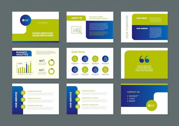 Business presentation guide design | folienvorlage | verkaufsleitfaden schieberegler