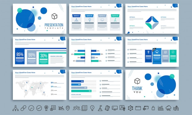 Business presentation template layout.