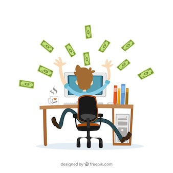 Business profit illustration