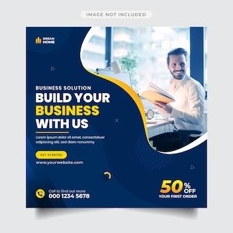 Business-promotion und corporate instagram-post- und banner-vorlage