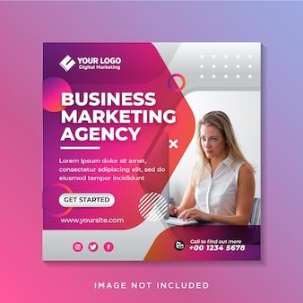 Business promotion und corporate social media banner vorlage oder square flyer
