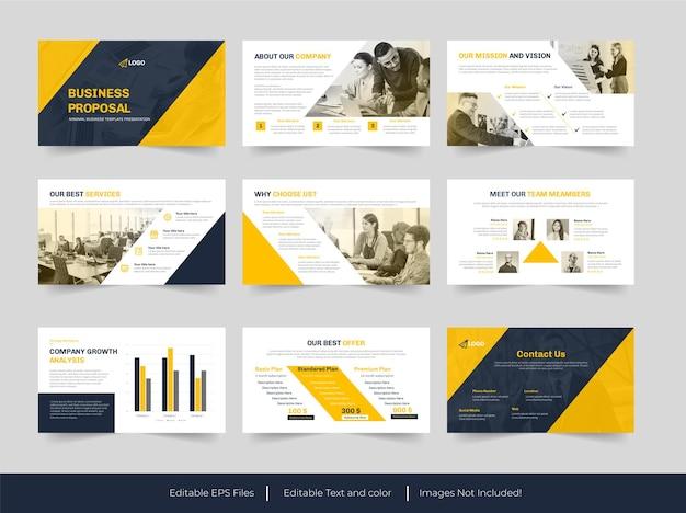 Business proposal powerpoint-vorlagendesign