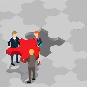 Business-puzzle isometrisch