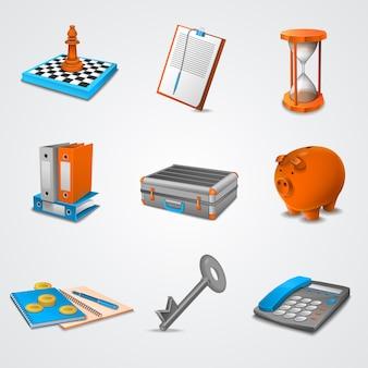 Business-realistische symbole