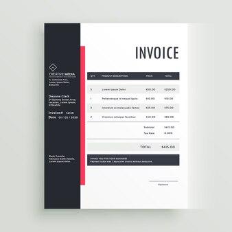 Business-rechnung vektor-vorlage design