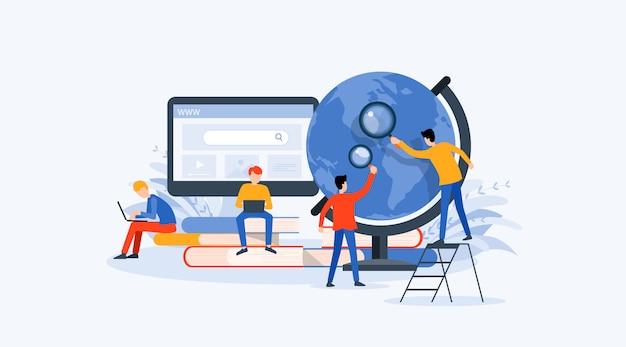Business research, lernen und online-bildungskonzept