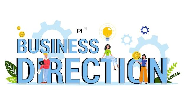Business-richtung web-banner-konzept. idee der wahl