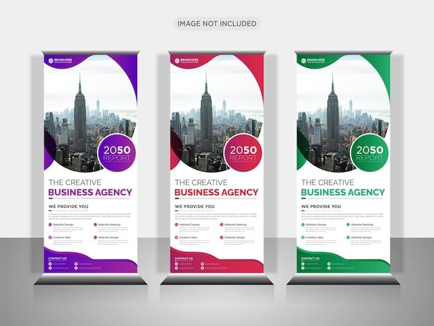 Business roll-up-banner oder pull-up-banner-design