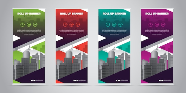 Business roll-up-banner. standendesign