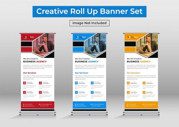 Business roll up banner vorlage design