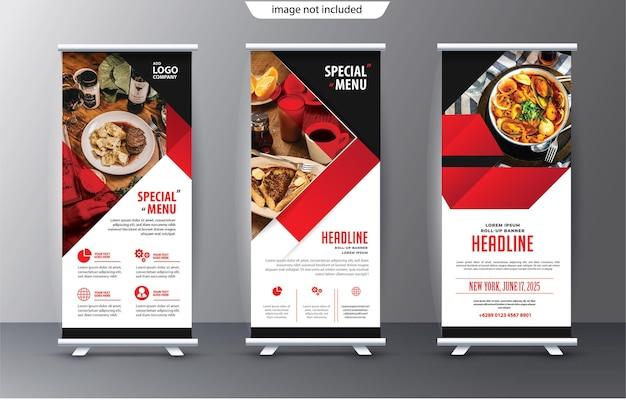Business roll-up display standee für präsentationszwecke