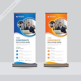 Business roll up standee banner vorlage premium