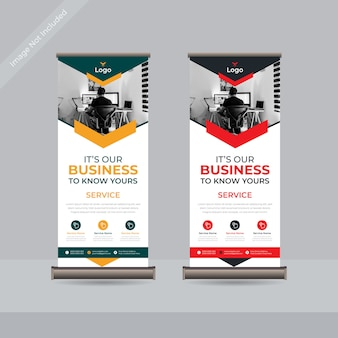 Business roll up standee banner vorlage premium