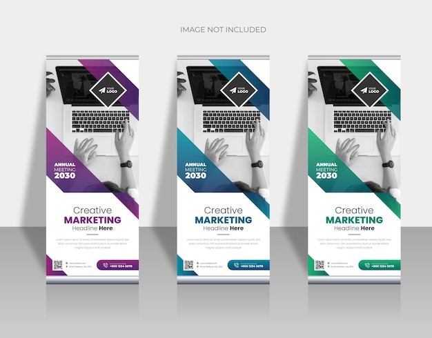 Business-rollup- oder x-banner-designvorlage