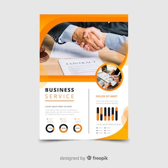 Business service flyer vorlage