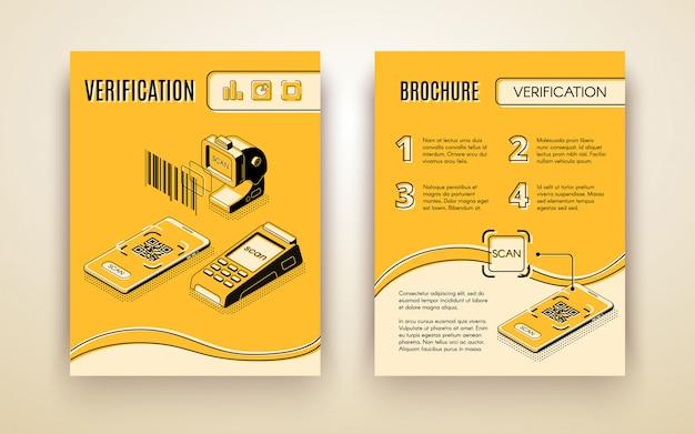 Business-service-flyer zur digitalen überprüfung