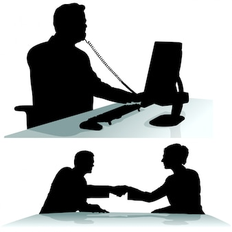 Business-silhouetten