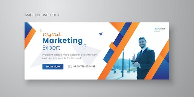 Business-social-media-banner-vorlage mit facebook-cover-design premium-vektor