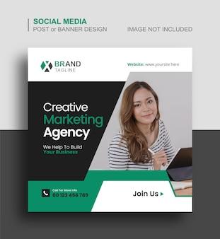 Business-social-media-instagram-post oder marketing-banner-design