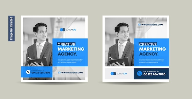 Business social media post design