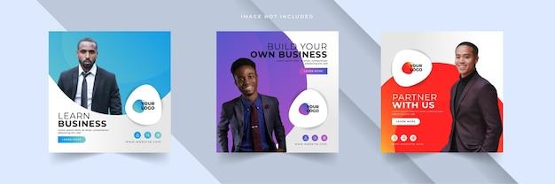 Business social media post vorlage