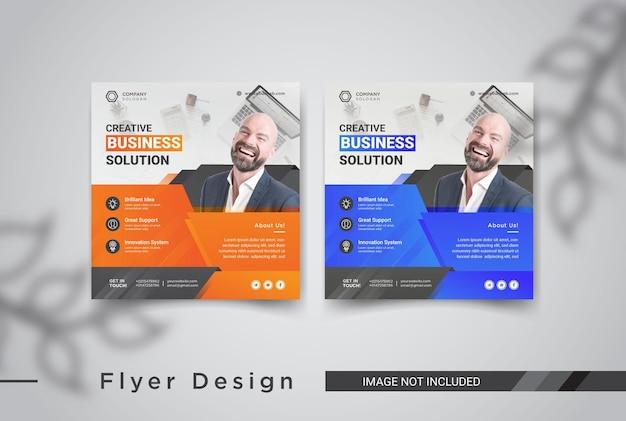 Business social media post vorlagen design