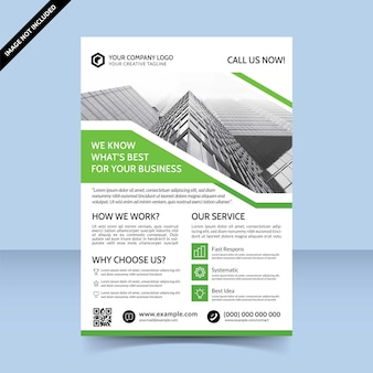 Business solution agentur flyer template design
