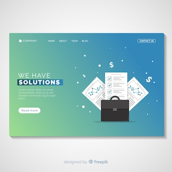 Business solutions landing page-vorlage