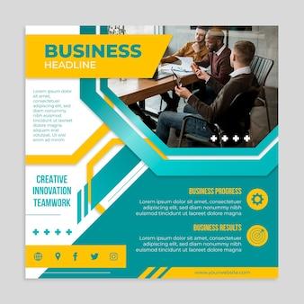 Business square flyer vorlage