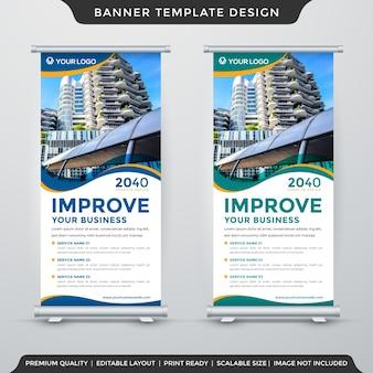 Business stand banner vorlage