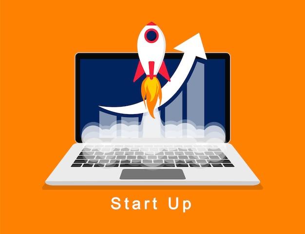 Business-startup-konzept vektor-illustration für die präsentation