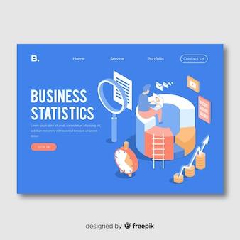 Business statistik landing page vorlage