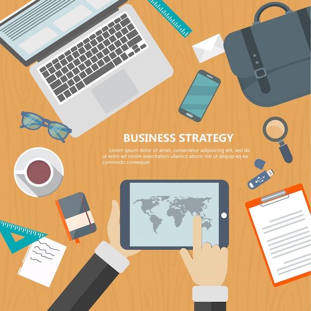 Business-strategie-konzept