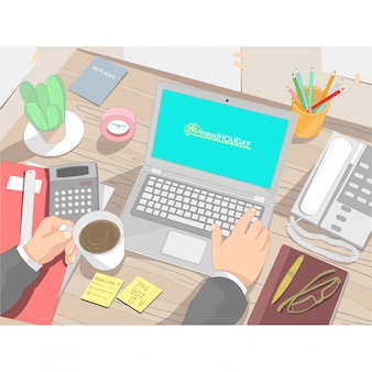 Business table arbeitnehmer