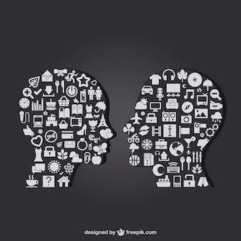 Business talk vektor-icons vorlage