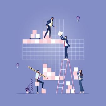 Business team build pluszeichen