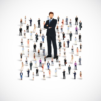 Business-team-gruppe