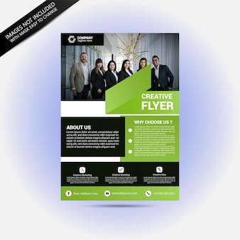 Business-team-konzept-flyer