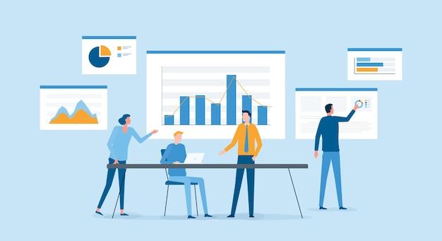Business-team-meeting zur planung