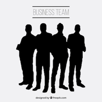 Business-team silhouetten