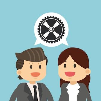 Business-teamarbeit arbeiten