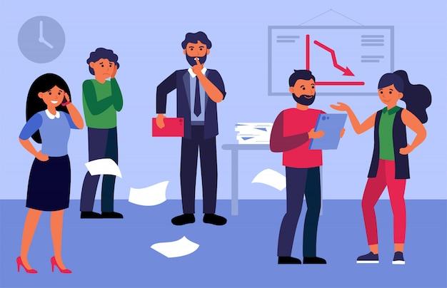 Business-teamleiter schweigen