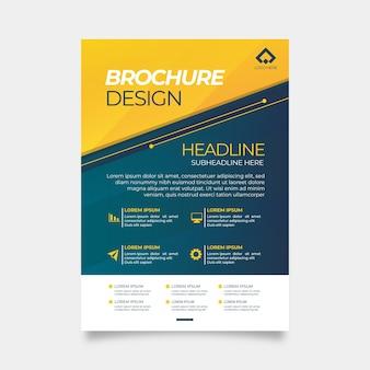 Business template design corporate
