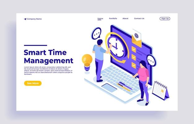 Business-time-management-konzept mit charakteren