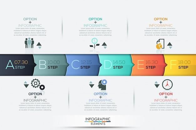 Business timeline infografik infografiken elemente